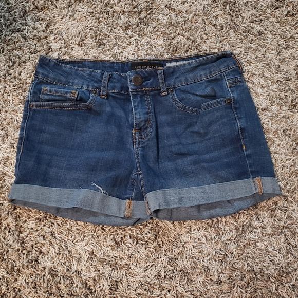 Midi jean shorts